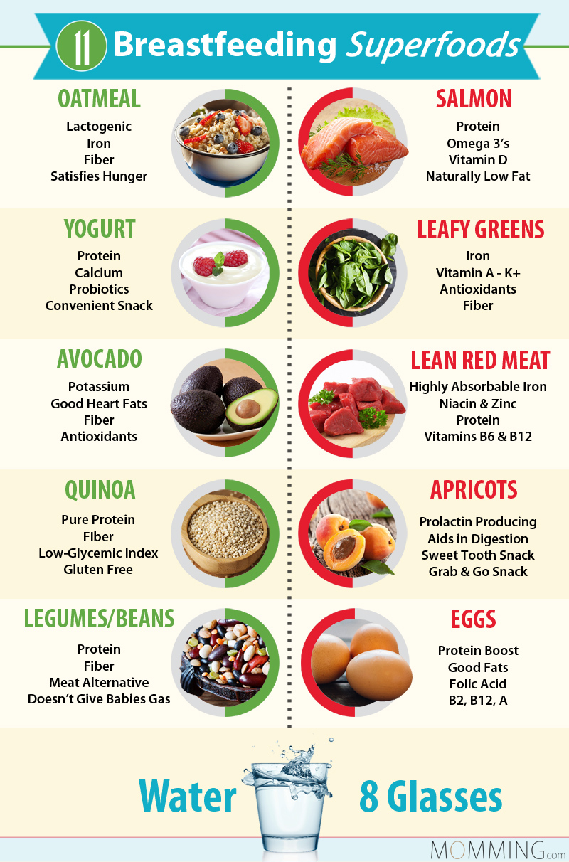 11 breastfeeding superfoods inforgraphic
