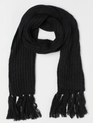 Rib knit scarf