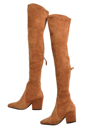 Goodnight Macaroon Suede Over the Knee Boots