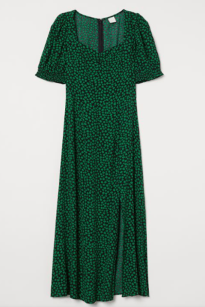 H&M Green Floral Dress