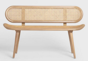 Natural Cane Bench