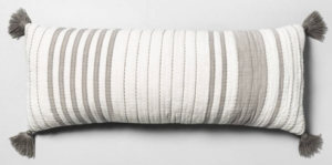 Oversized Striped Lumbar Pillow