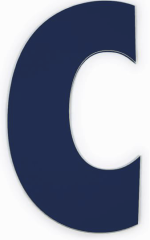 Blue Letter C Pottery Barn