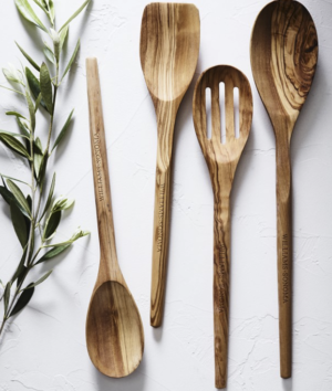 Williams Sonoma Olivewood Mixing Spoons