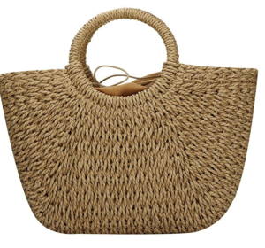 Hand-woven Straw Large Hobo Bag