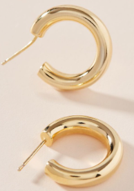 Anthropologie Mini Hoop Earings