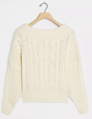 Melissa Cable Knit Sweater Anthropologie
