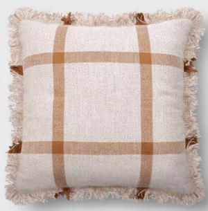 Target Fall Throw Pillow Plaid