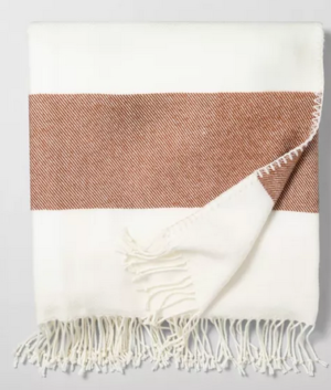 Pumpkin Stripe Throw Blanket Target