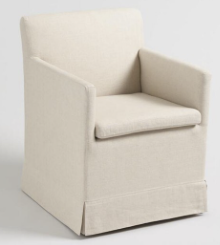Linen upholstered chair world market