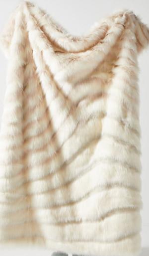 Janelle faux fur blanket