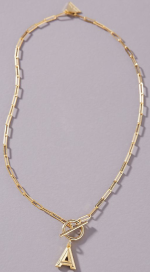 Chain Link necklace Monogram Anthropologie