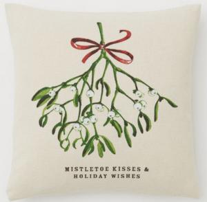 Mistletoe Kisses pillow