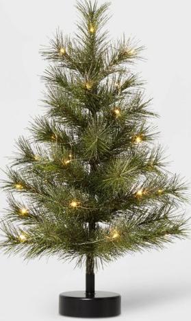 Unlit tinsel tree