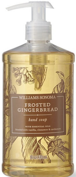 Frosted gingerbread hand soap