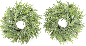 Set of 2 christmas wreaths