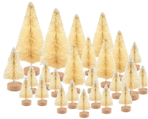 48 pcs mini christmas trees bottle brush