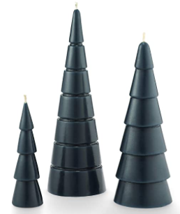 Black tree candles
