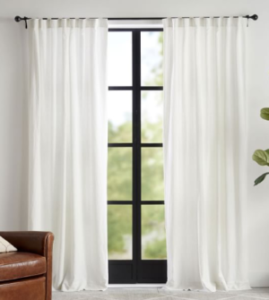 Pottery Barn Linen Drapes
