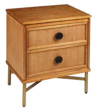 Rattan front night stand