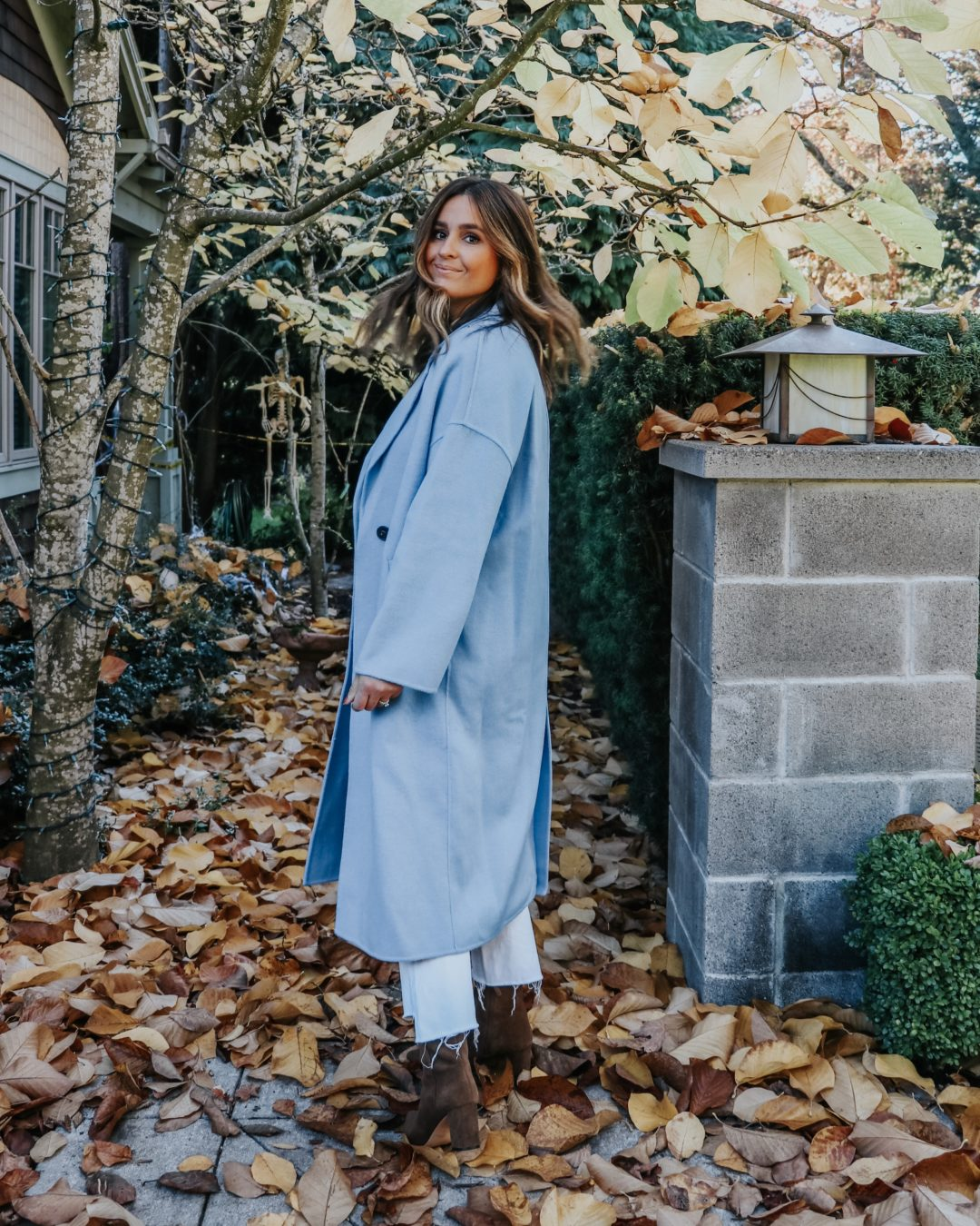 Zara Blue Wool Coat